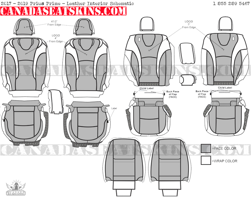 2017 Toyota Prius Prime Custom Leather Upholstery