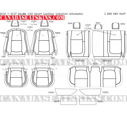 2016 Mazda CX5 Sport Custom Leather Upholstery