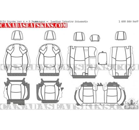 2019 Toyota Rav 4 Dealer Pak Leather Upholstery Kits