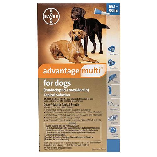 Buy Advantage Multi for Dogs : Advocate Flea & Heartworm ...