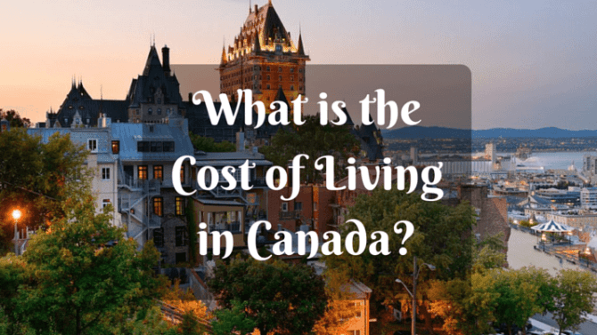 Cost of Living in Canada