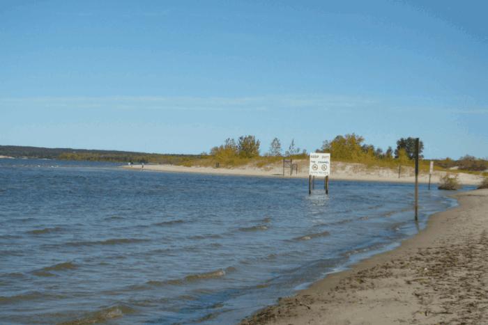 Grand Beach in Manitoba