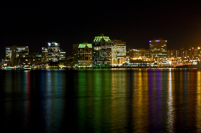 Night View of Halifax  City in Winter