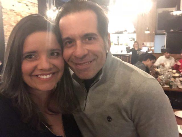 Com o ator Leandro Hassum