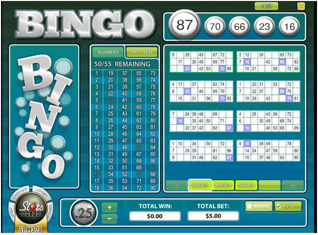 90 Ball Bingo game