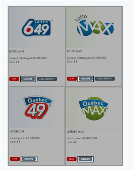 The Canadian lotteries that you can play as a group