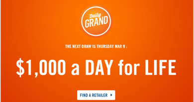 Daily grand lottery