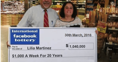 Facebook Lottery scam Canada