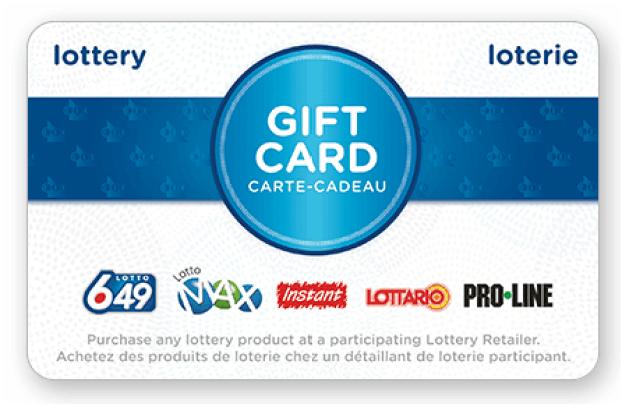 Lottery gift card