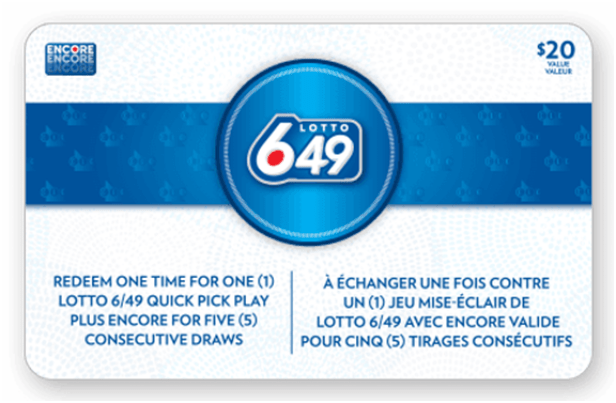 Lotto 649 Gift Card