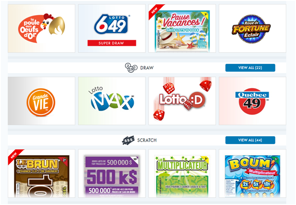 Lotto Quebec games