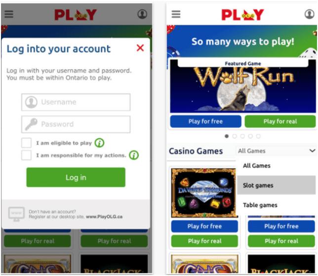 OLG Casino app
