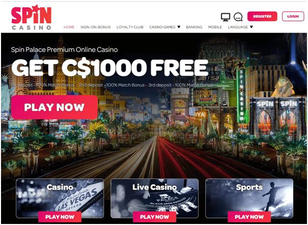 Spin Casino Bonus offer
