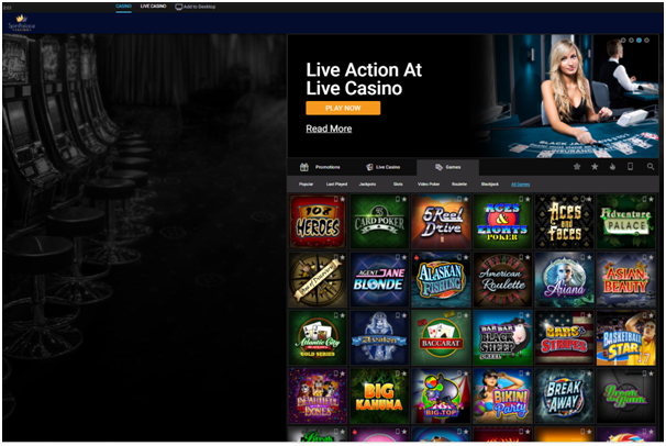 Spin Palace Casino Canada-Games to play
