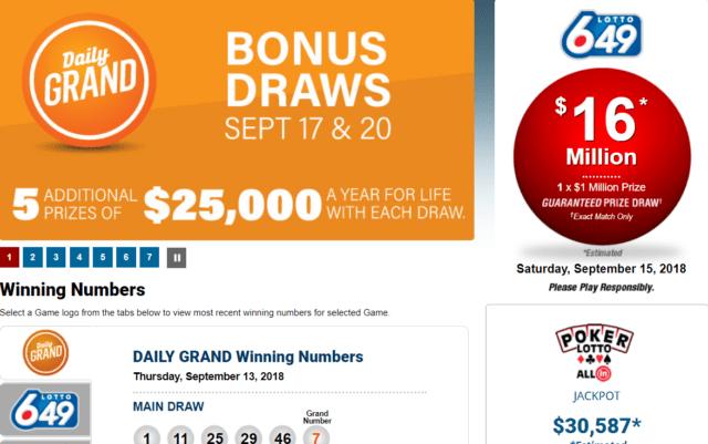 WCLC lotteries