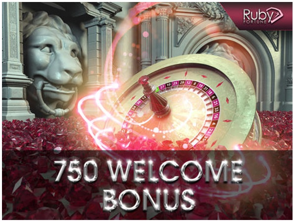 Welcome bonus at Ruby Fortune