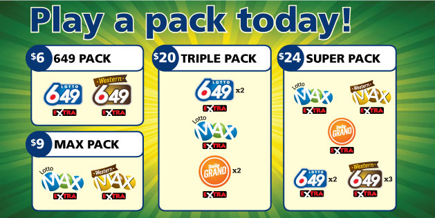 Western 649 Lotto packs