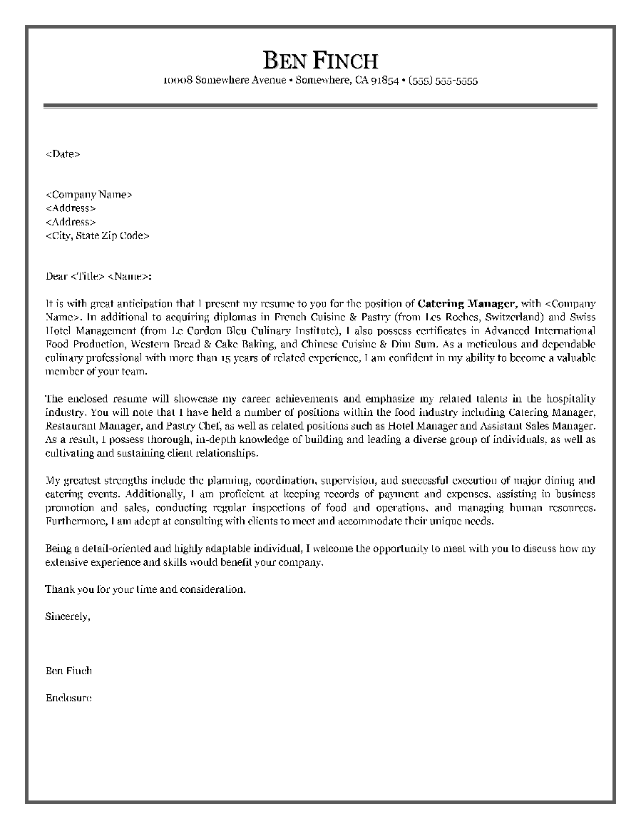resume cover letter for restaurant cipanewsletter hotel and restaurant service resume