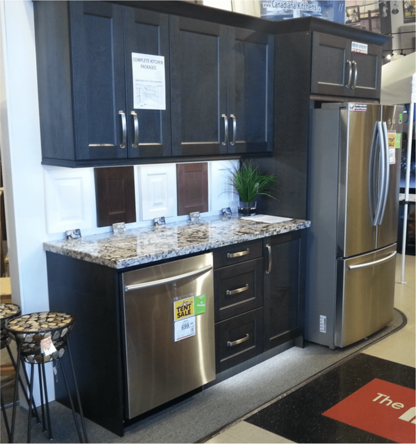 kitchen display farmhouse lighting cabinet displays barrie on boutiques by at scott s flooring in hgtv shaw store