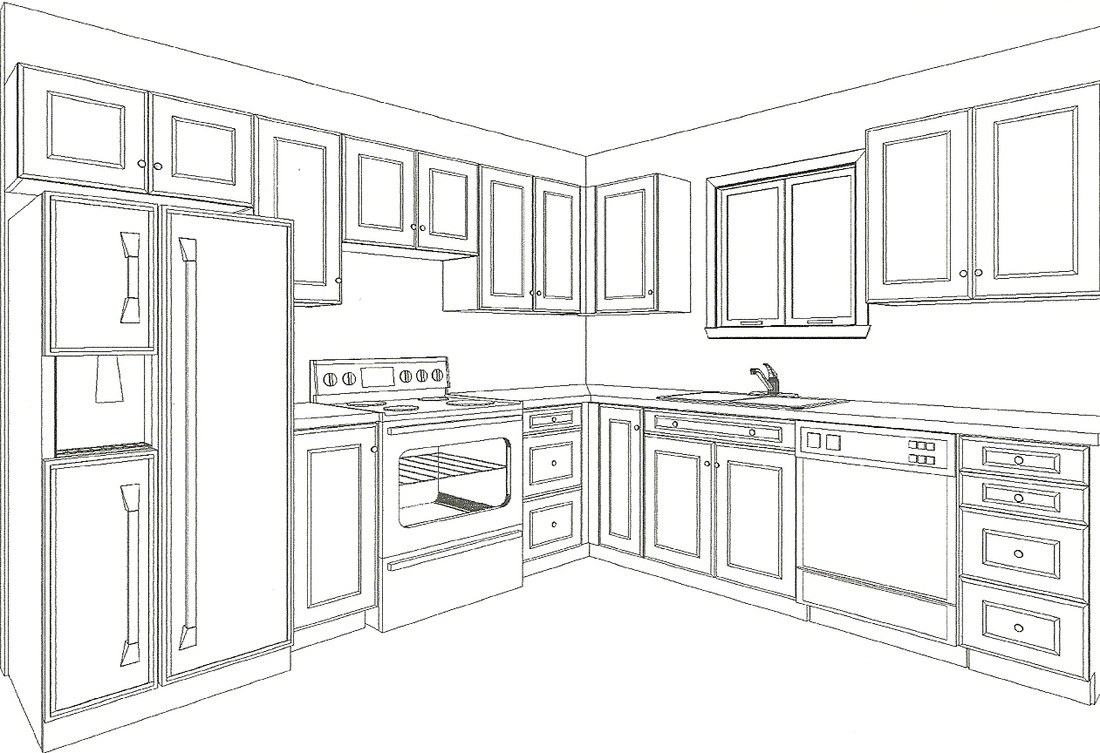 L Shaped Modular Kitchen Design Drawings