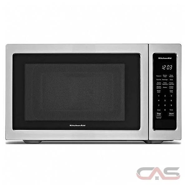 kitchenaid ykmcs1016gs countertop microwave 1 6 cu ft capacity 1100w watts stainless steel colour