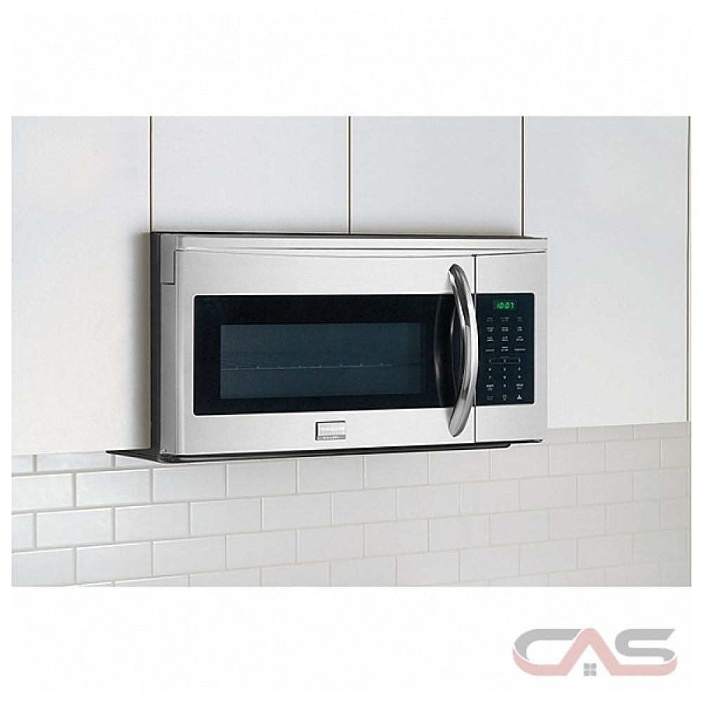 frigidaire gallery cgmv175qf over the range microwave 1 7 cu ft capacity 300 cfm 1000w watts incandescent stainless steel colour