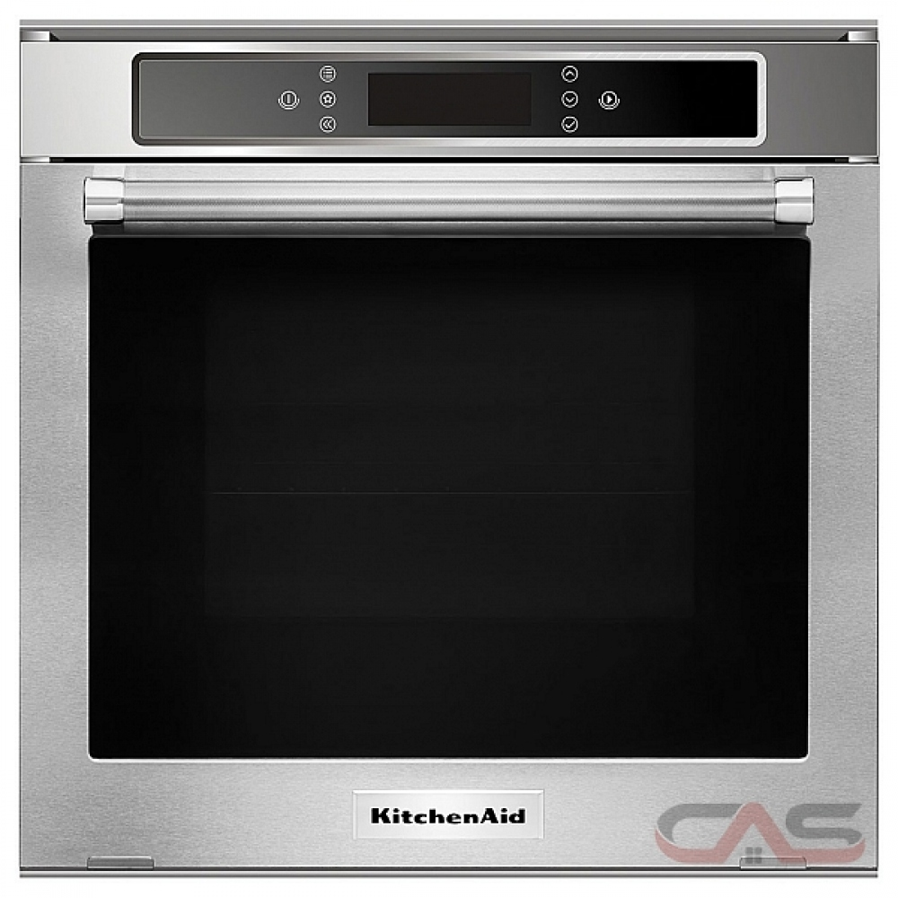 kitchenaid kosc104fss single wall oven 24 inch exterior width convection self clean 2 6 cu ft capacity stainless steel colour