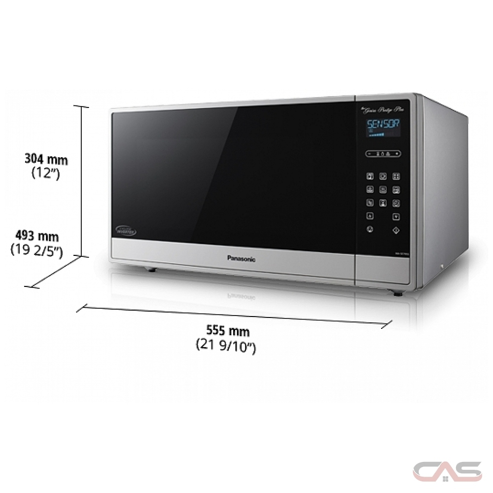 panasonic nnse795s countertop microwave 1 6 cu ft capacity 1200w watts 20 inch exterior width stainless steel colour