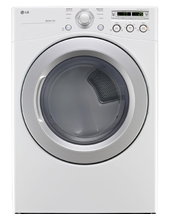 LG 7.3-Cu FT Electric Dryer White