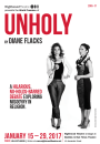 """[Poster for the play """"Unholy"""".]"""