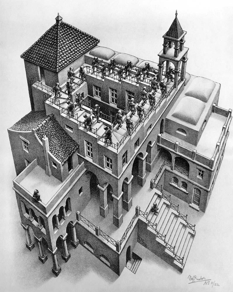 [Ascending and Descending, by M. C. Escher.]