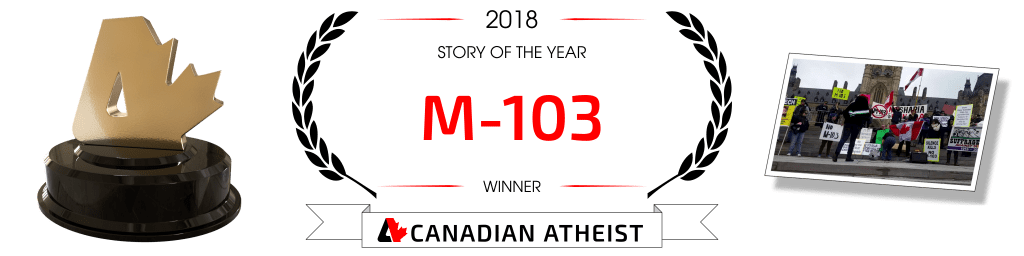 [Canadian Atheist 2018 award - Story of the year]