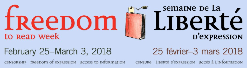 [Freedom to Read Week 2018 banner.]