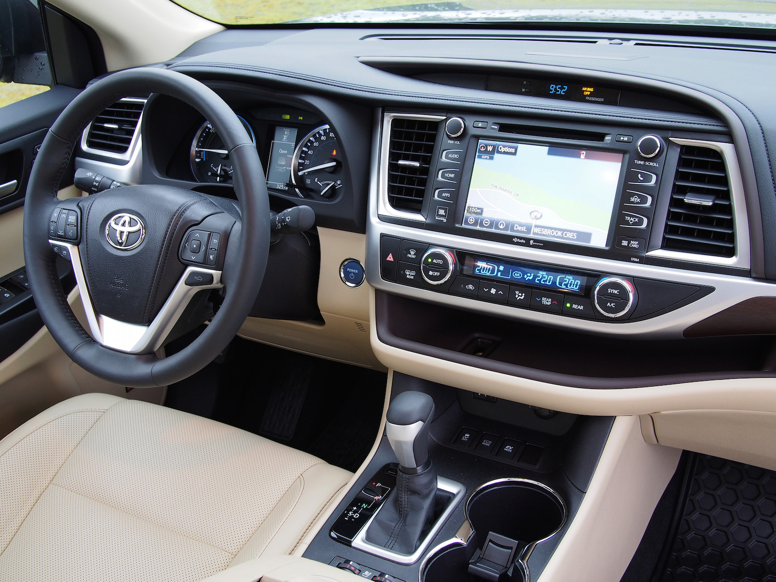 Review 2015 Toyota Highlander Hybrid Canadian Auto Review