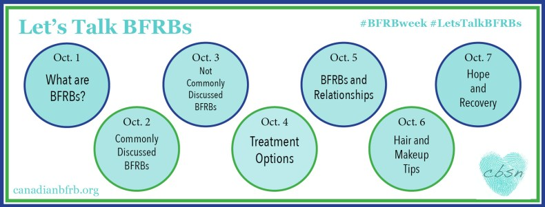 Canadian BFRB Support Network discusses all things body-focused repetitive behaviours during BFRB Awareness Week 2017.