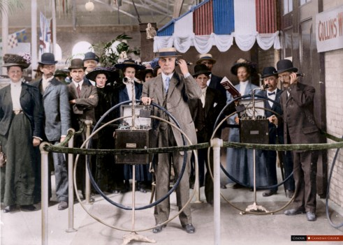 Collins Wireless Telephone - Colourized Photograph