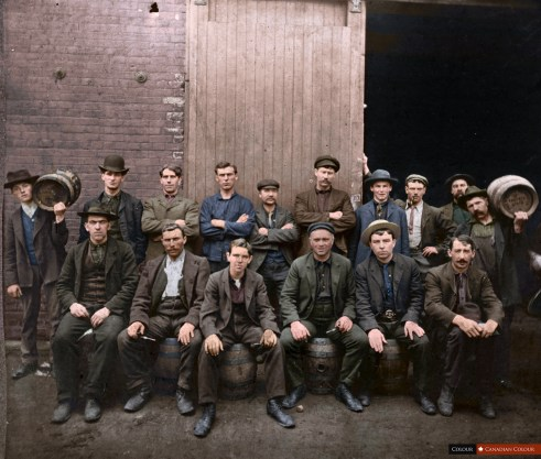 O'Keefe Brewery, Toronto - Colourized Photograph