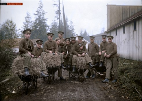 First Depot - Colourized Photograph