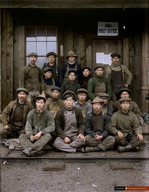 Work Crew - Colourized Photograph
