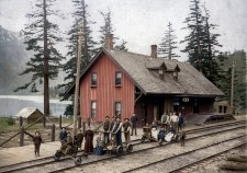 CPR Station, Hope, BC 1897