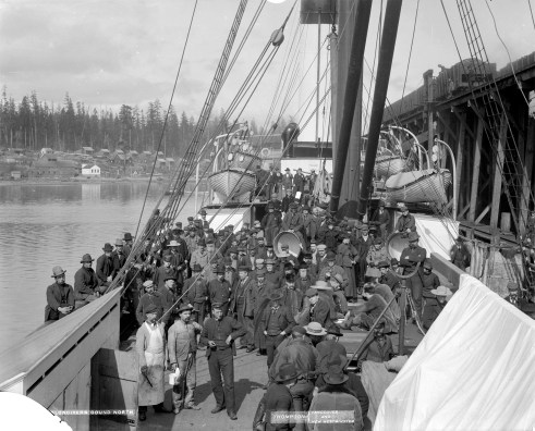 Klondikers Bound North - Original photograph