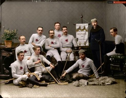 Ottawa Hockey Club 1891 - Colourized Photograph