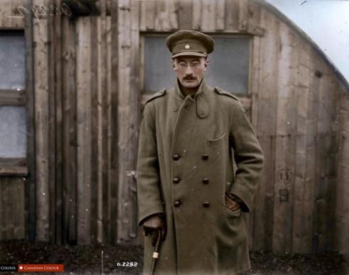 Lt Henry Mareus Strachan VC MC - Colourized Photograph