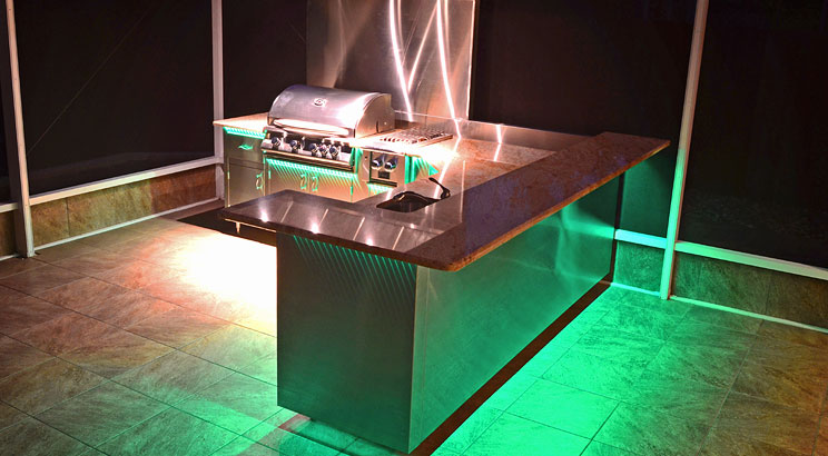 Designing your outdoor kitchen - lighting