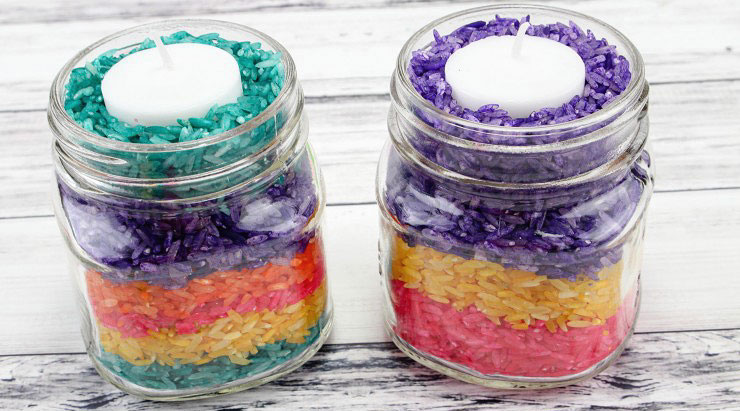 Easy Easter Crafts for Adults - Rice Candles