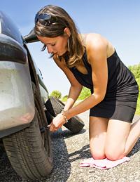 Roadside Emergency in Summer