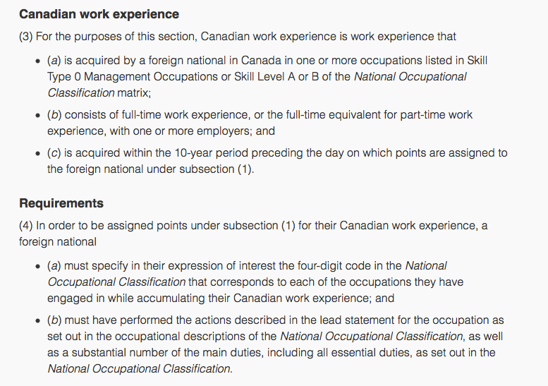 Express entry the secret to finding your correct noc canadian canadian work experience spiritdancerdesigns