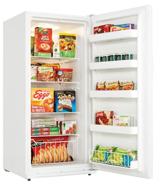 danby designer 138 cuft upright freezer u2013 white