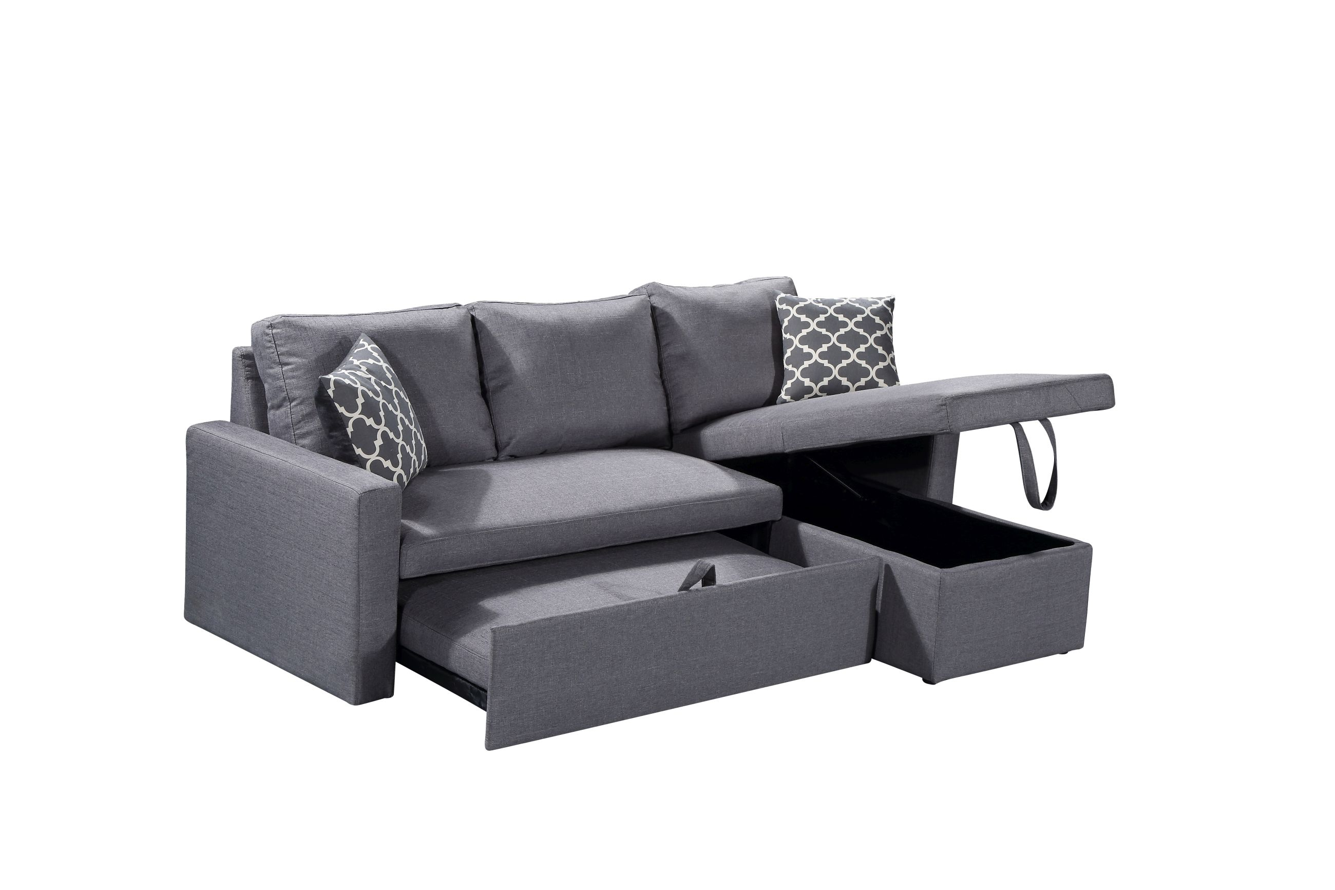 leather sectional sofa amazon italian beds chiara right sleeper full kitchen bed dp dining com
