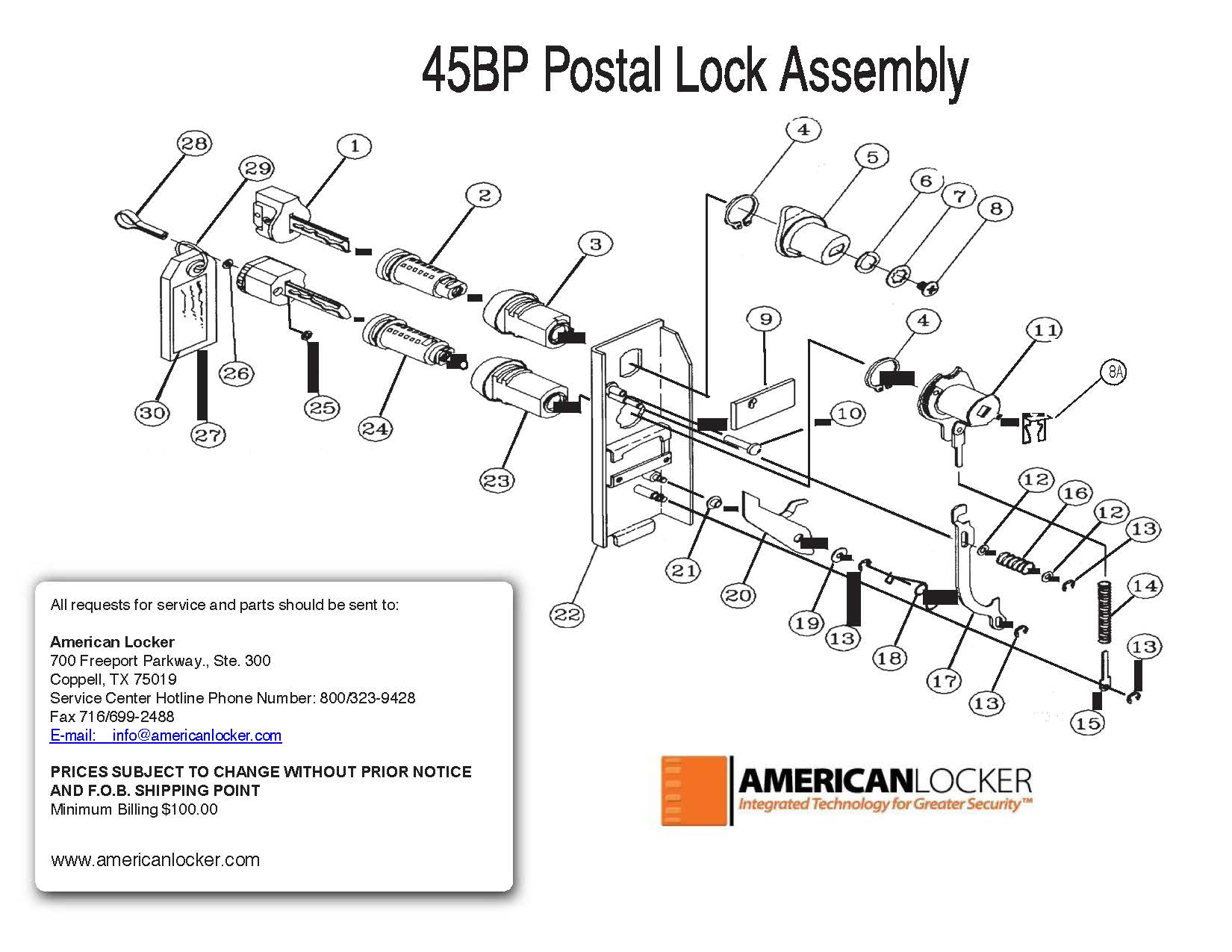 45bp Postal Lock Parts Archives